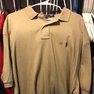 Polo Ralph Lauren tan button up size xxl nwot